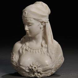 Italian School, Late 19th/Early 20th Century       Marble Bust of a Gypsy Maiden