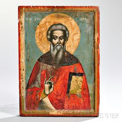 Russian Icon Depicting a Saint