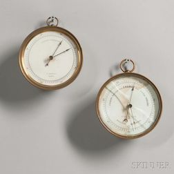 Two Brass-cased Barometers by Kendall and Thaxter