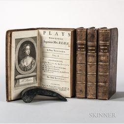 Behn, Aphra (1640-1689) Plays.