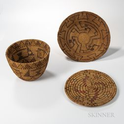 Three Southwest Basketry Items