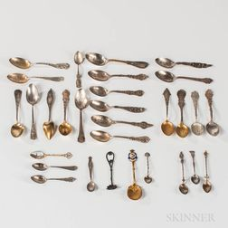 Group of Sterling Silver Souvenir Spoons