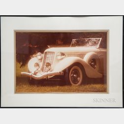William Plante (American, 20th Century)      1935 Auburn Speedster.