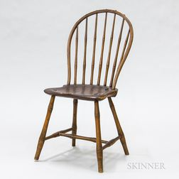 Bamboo-turned Bow-back Windsor Side Chair