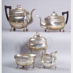 Assembled Five-Piece Silver Tea and Coffee Service