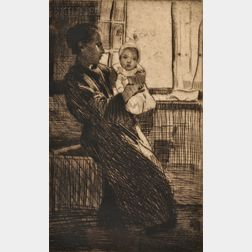 William Lee Hankey (British, 1869-1952)      Mother and Child.