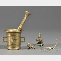 Four Brass Items