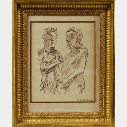 Oskar Kokoschka (Austrian, 1886-1980), Framed Lithograph of Two Figures