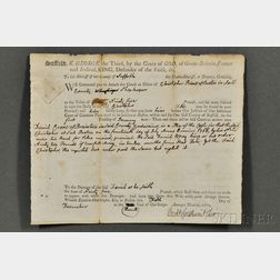 Adams, John (1735-1826) Signed Legal Brief, 5 December 1770.