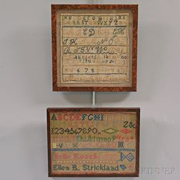 Two Framed Needlework Samples