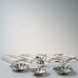 Nine Pieces of Mexican Sterling Silver Tableware