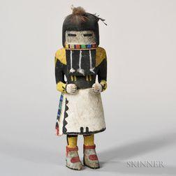 Hopi Angak'tsina or Longhair Katsina