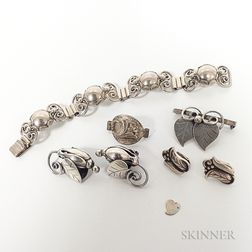 Group of Modern Sterling Silver Jewelry