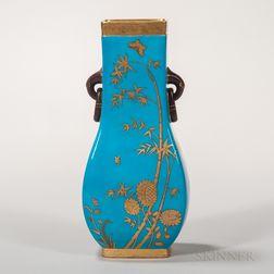 Minton Porcelain Turquoise-glazed Vase