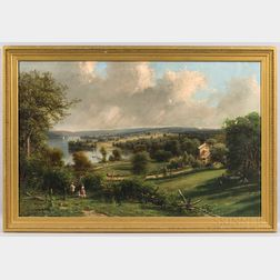 "George Lafayette Clough (New York, 1824-1901), ""Springside,"" the Summer Home of the John Newcomb Knapp Family on Owasco Lake, Near Aubu"