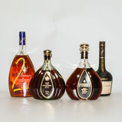 Courvoisier, 4 bottles (oc)