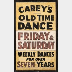 """""""Carey's Old Time Dance"""" Dance Hall Sign"""