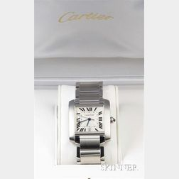 Stainless Steel Wristwatch, Cartier