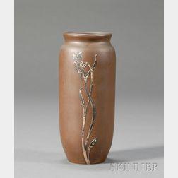 Heinz Art Metal Overlay Vase