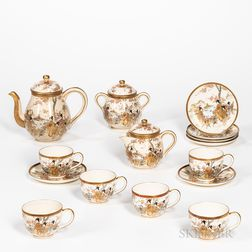 Fifteen-piece Satsuma Tea Set