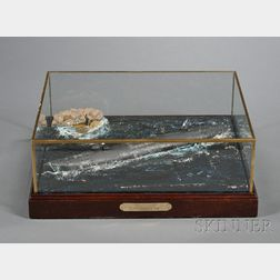 Cased Model of the C.S.S. Confederate Submarine HUNLEY