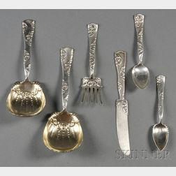 Six Whiting Manufacturing Co. Sterling Flatware Items