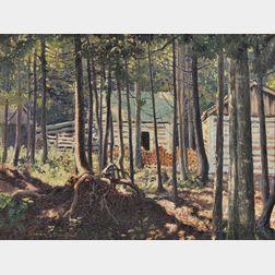 Frank (Franz) Hans Johnston (Canadian, 1888-1949)      La Maison dans Bois