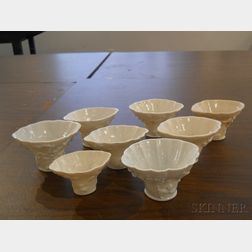 Eight Blanc-de-Chine Libation Cups