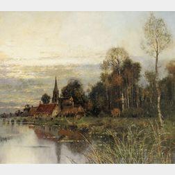Karl Heffner (German, 1849-1925)      At the River