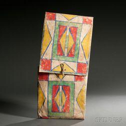 Nez Perce Painted Parfleche Envelope