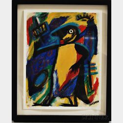 Cher Shaffer (American, b. 1948)       Black Bird Jazz.