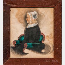 James Sanford Ellsworth (American, 1802/03-1874)      Portrait of Mrs. Huldah Wilson Ellsworth