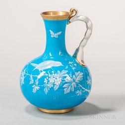 Minton Porcelain Turquoise-glazed Ewer