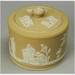 Wedgwood Yellow Jasper Dip Sucrier and Cover