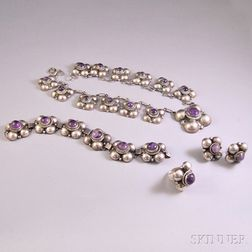 Mexican Silver and Amethyst Suite