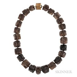 Smoky Quartz Bead Necklace, Christopher Walling