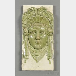 Zsolnay Architectural Portrait Tile