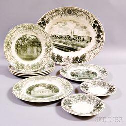 Nine Pieces of Wedgwood Bowdoin College Ceramics