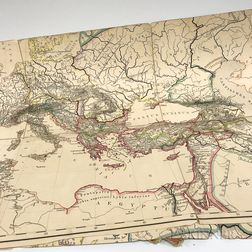 Four Large Justus Perthes Maps of Europe