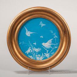 Minton Porcelain Turquoise-glazed Plate