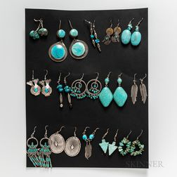 Fifteen Pairs of Southwest Earrings