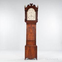 Inlaid Mahogany Gothic-style Quarter-hour Longcase Clock