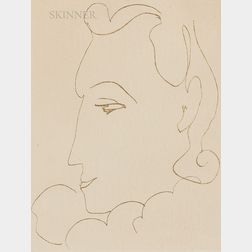 Henri Matisse (French, 1869-1954)      Untitled (Profile du femme)
