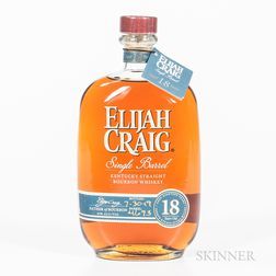 Elijah Craig Single Barrel 18 Years Old, 1 750ml bottle