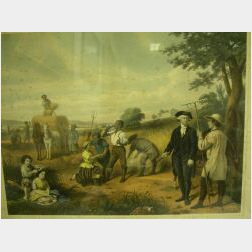 Three Lithographs from Life of George Washington.