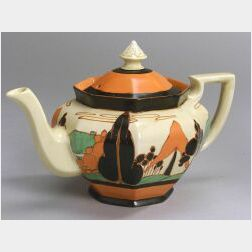 Clarice Cliff Pottery Teapot