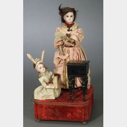 School Teacher and Pupil Musical Automaton by Roullet & Decamps