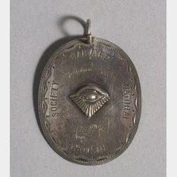Engraved Harvard Natural History Society Silver Medallion