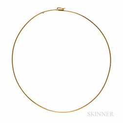 Cartier 18kt Gold Torque Necklace