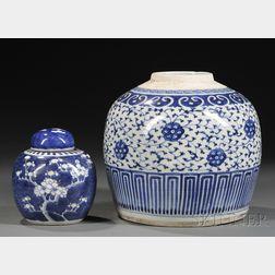 Two Porcelain Jars